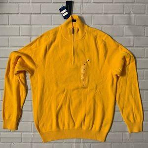 Brand New Tommy Hilfiger Zip Sweater Yellow Medium